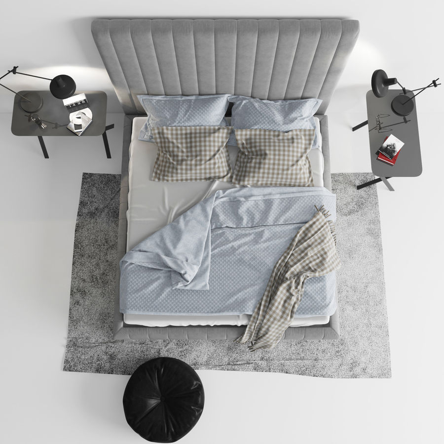 Meridiani Tuyo Bed royalty-free 3d model - Preview no. 4