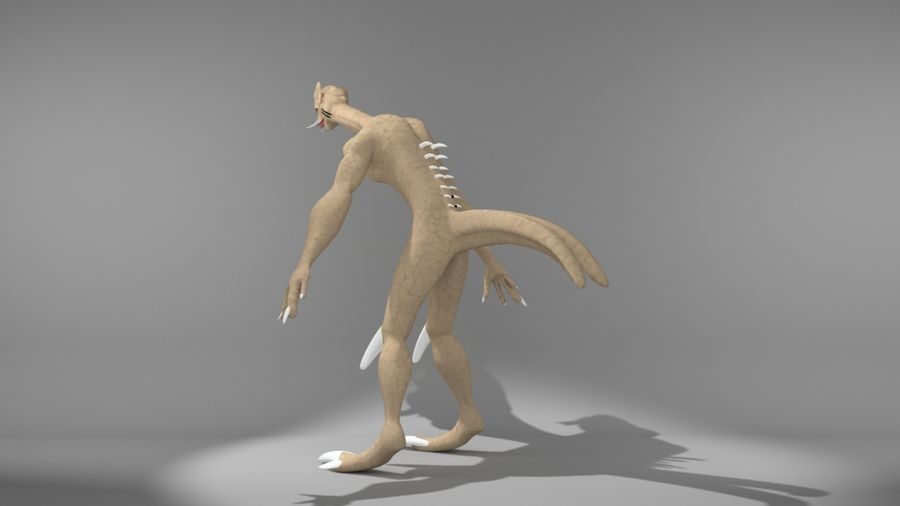 monster royalty-free 3d model - Preview no. 5