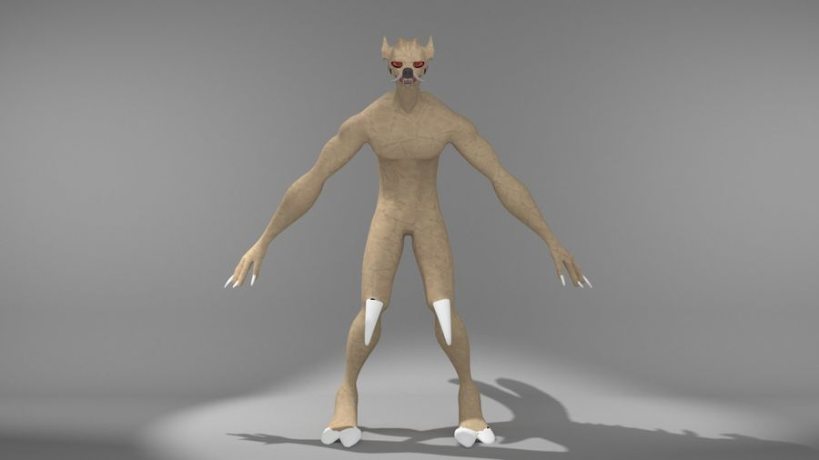 monster royalty-free 3d model - Preview no. 4