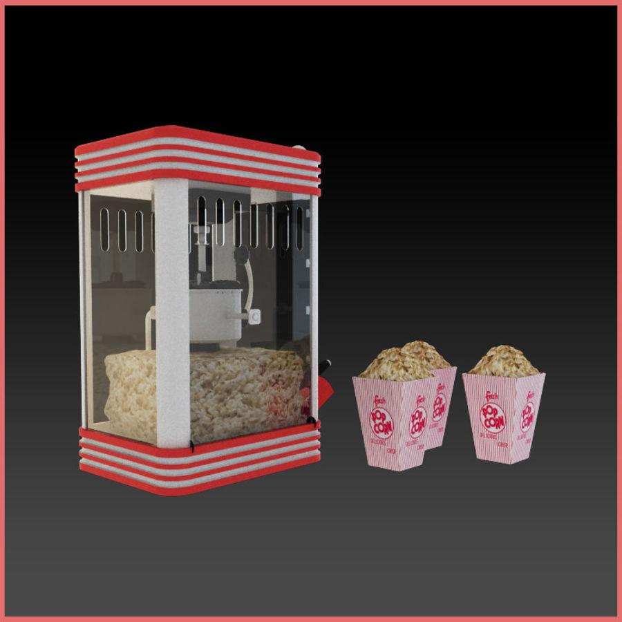 Maszyna do popcornu royalty-free 3d model - Preview no. 2