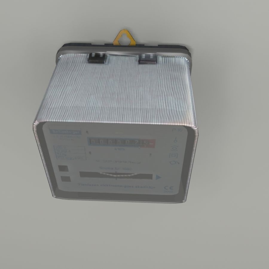 Electricity Meter royalty-free 3d model - Preview no. 3