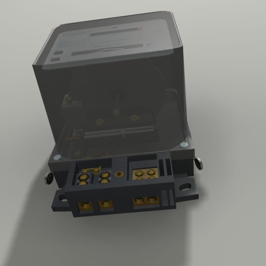 Electricity Meter royalty-free 3d model - Preview no. 4