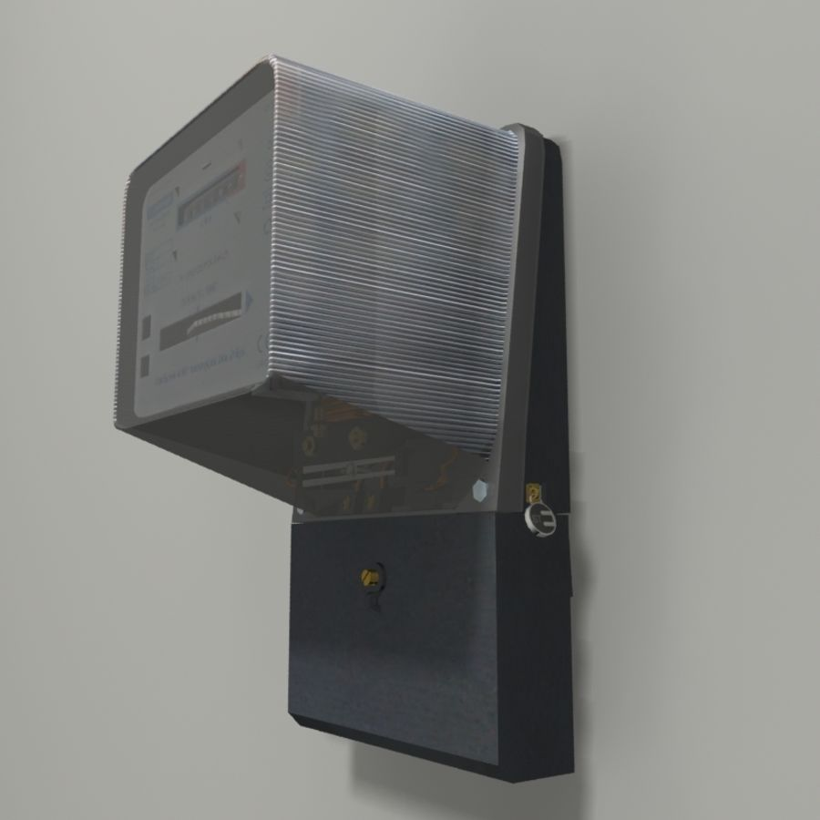 Electricity Meter royalty-free 3d model - Preview no. 2