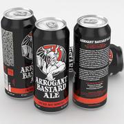Beer Can Arrogant Bastard Ale 500ml 3d model