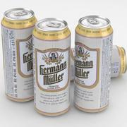 Canette de bière Hermann Muller 500ml 3d model
