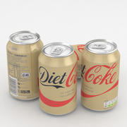 Dieta Coke Drink Can Can 330 ml 3d model