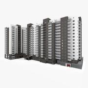 Lägenhet med flera våningar 3d model