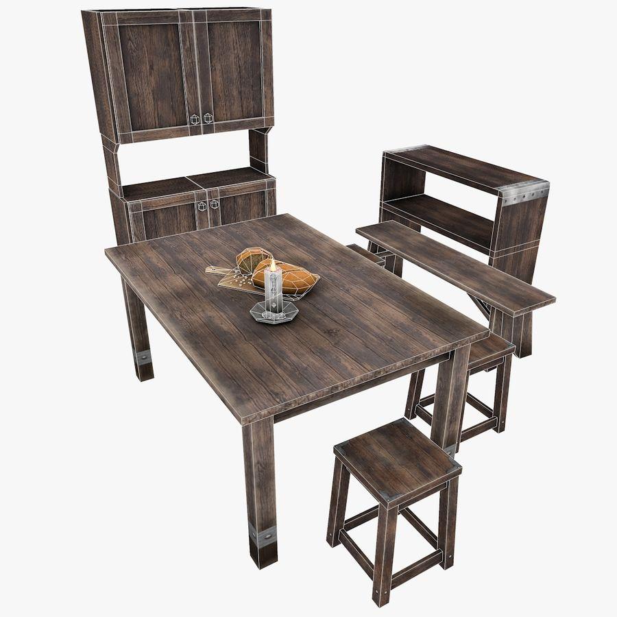 Juego de muebles royalty-free modelo 3d - Preview no. 6