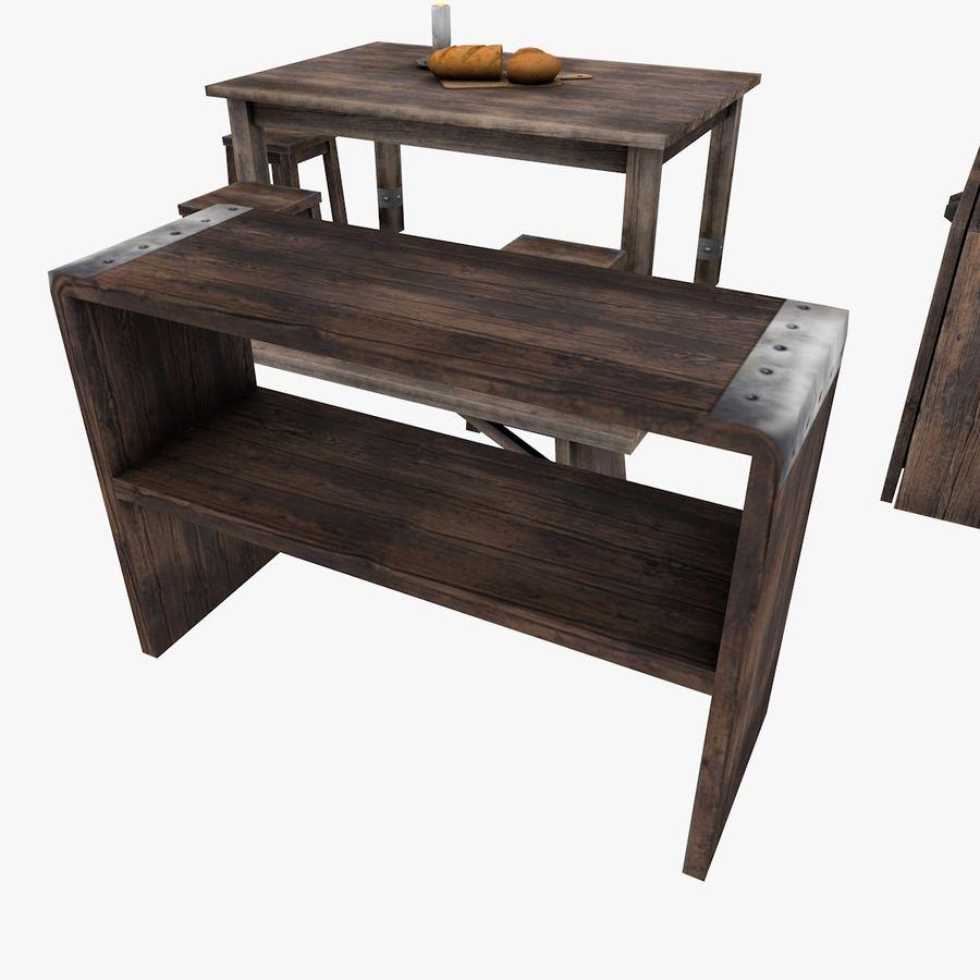 Juego de muebles royalty-free modelo 3d - Preview no. 3