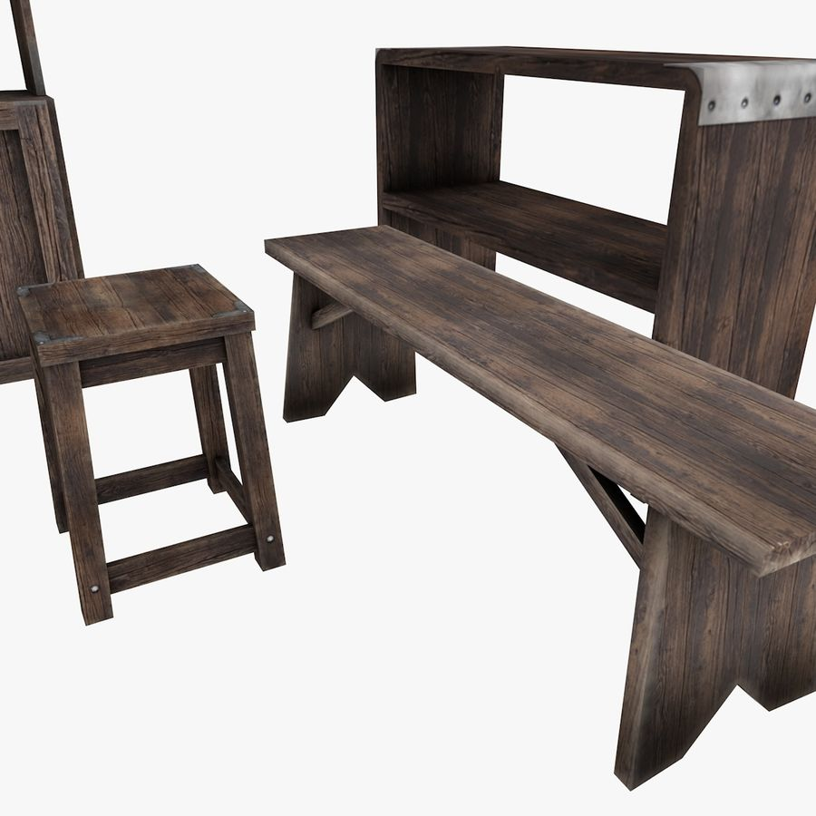 Juego de muebles royalty-free modelo 3d - Preview no. 5