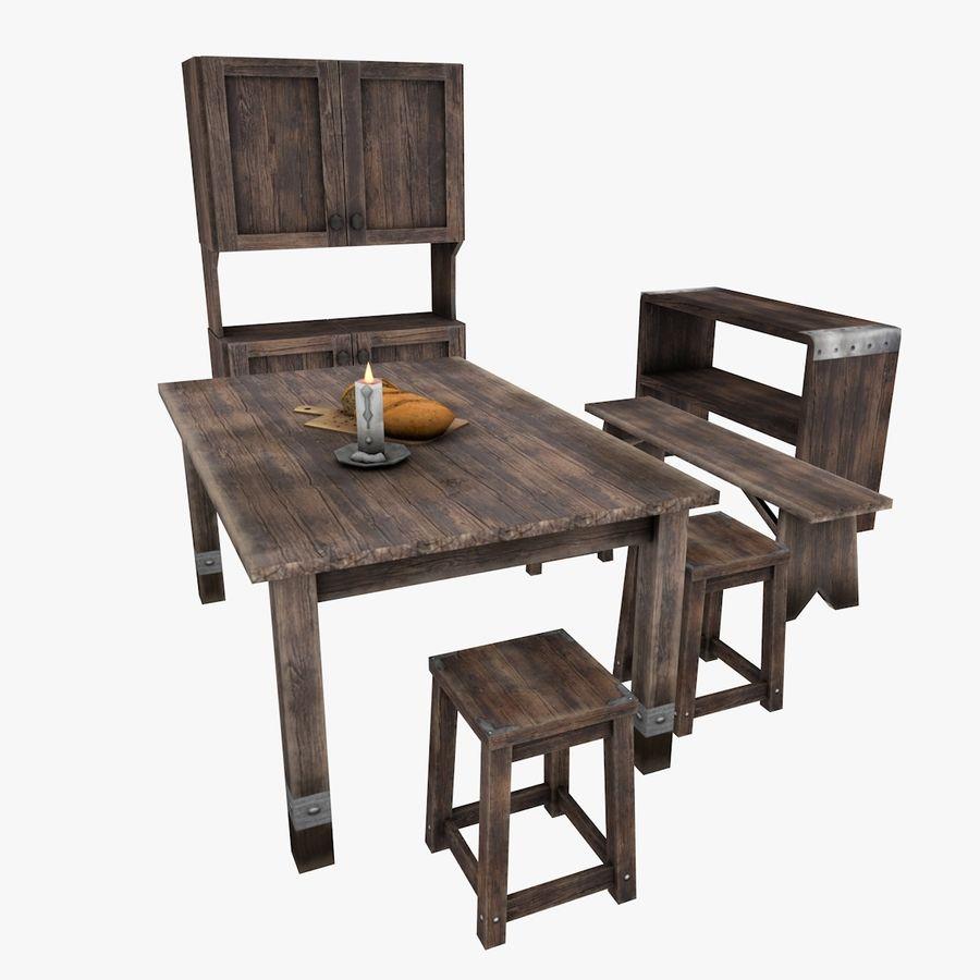 Juego de muebles royalty-free modelo 3d - Preview no. 1