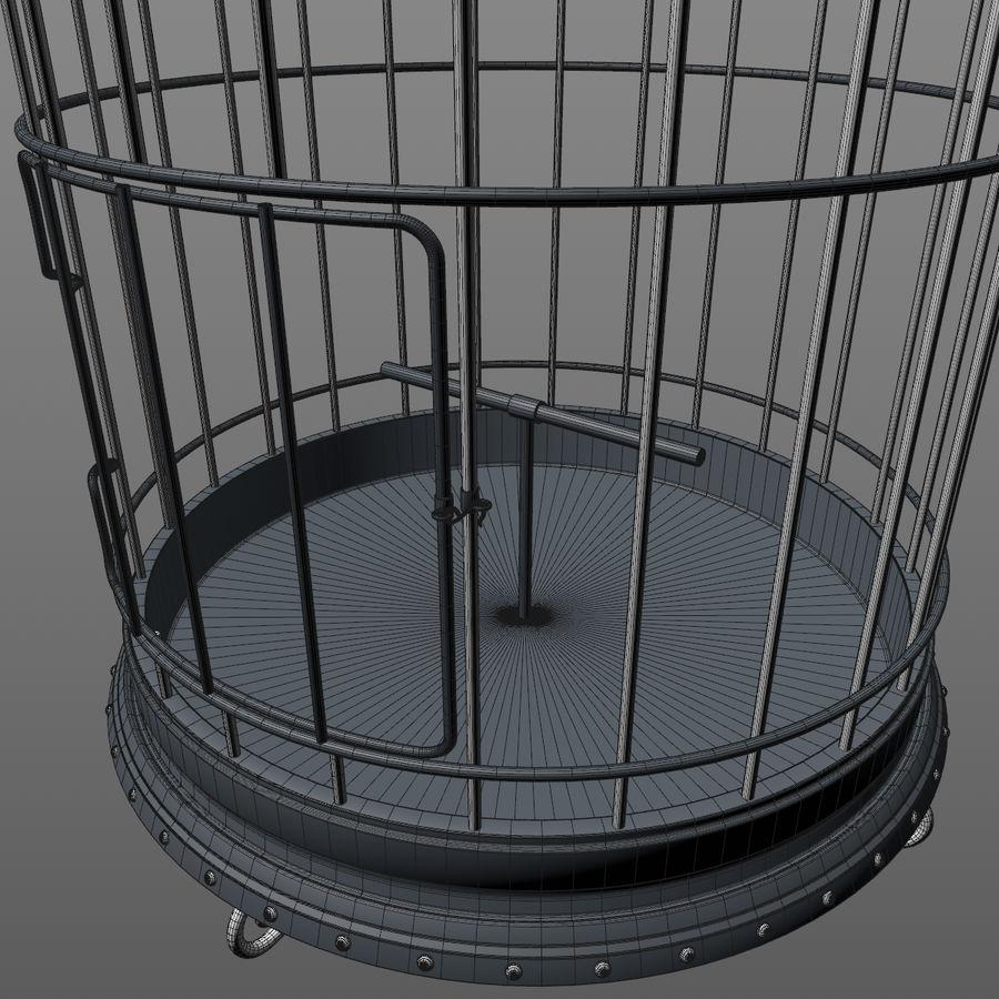 клетка для птиц royalty-free 3d model - Preview no. 15