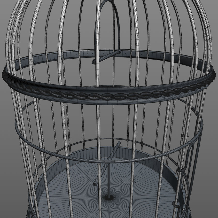 клетка для птиц royalty-free 3d model - Preview no. 20
