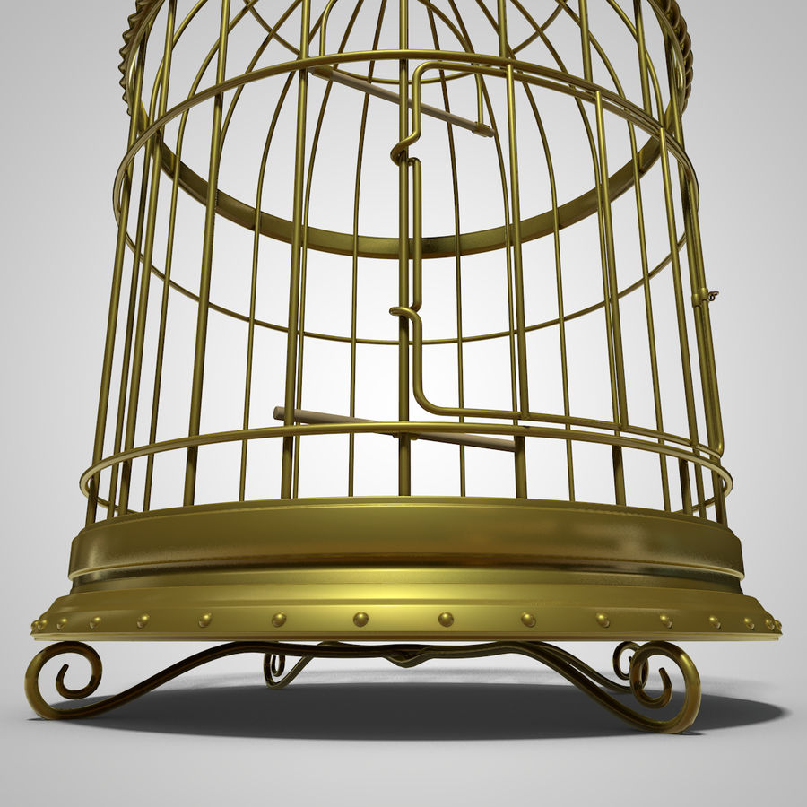 клетка для птиц royalty-free 3d model - Preview no. 8