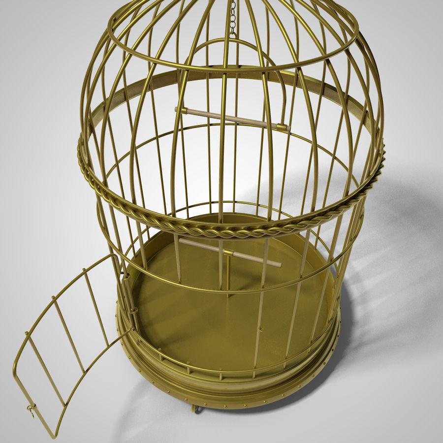 клетка для птиц royalty-free 3d model - Preview no. 7