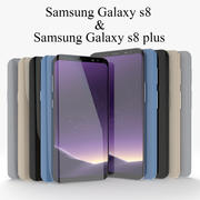 Samsung Galaxy S8 and S8 Plus 3d model