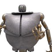 Robô SciFi 02 - Trabalhador Robot 3d model