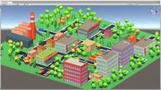 Pacote de cidade dos desenhos animados 3d model