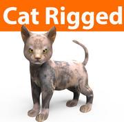 操纵的可爱猫咪 3d model