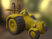 Cartoon Tracktor 3d model