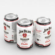 Jim Beam  Bourbon Whiskey and Cola 330ml Can 3d model