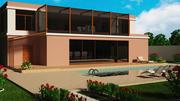 Villa - extérieur et intérieur 3d model