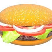햄버거 회전 3d model