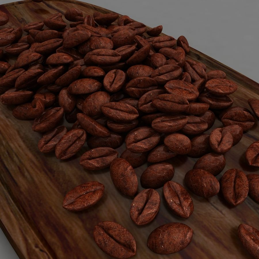 coffee beans royalty-free 3d model - Preview no. 1