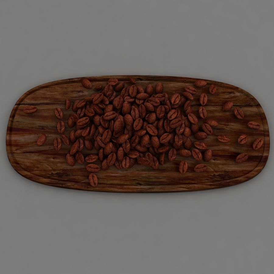 coffee beans royalty-free 3d model - Preview no. 3