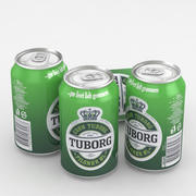 Beer Can Tuborg 330ml 3d model