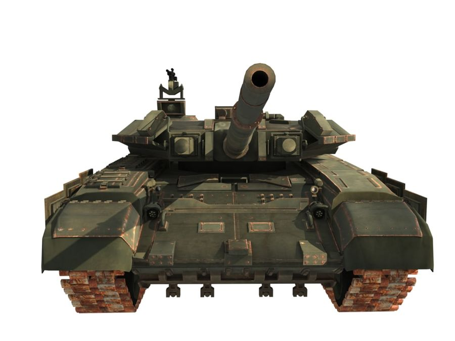 t 90 tank royalty-free 3d model - Preview no. 2