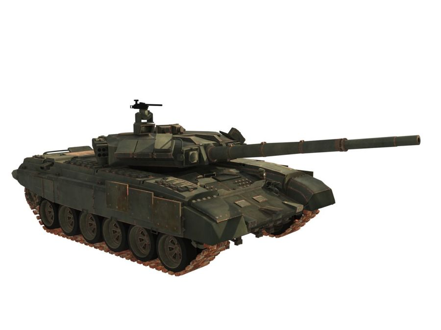 t 90 tank royalty-free 3d model - Preview no. 3