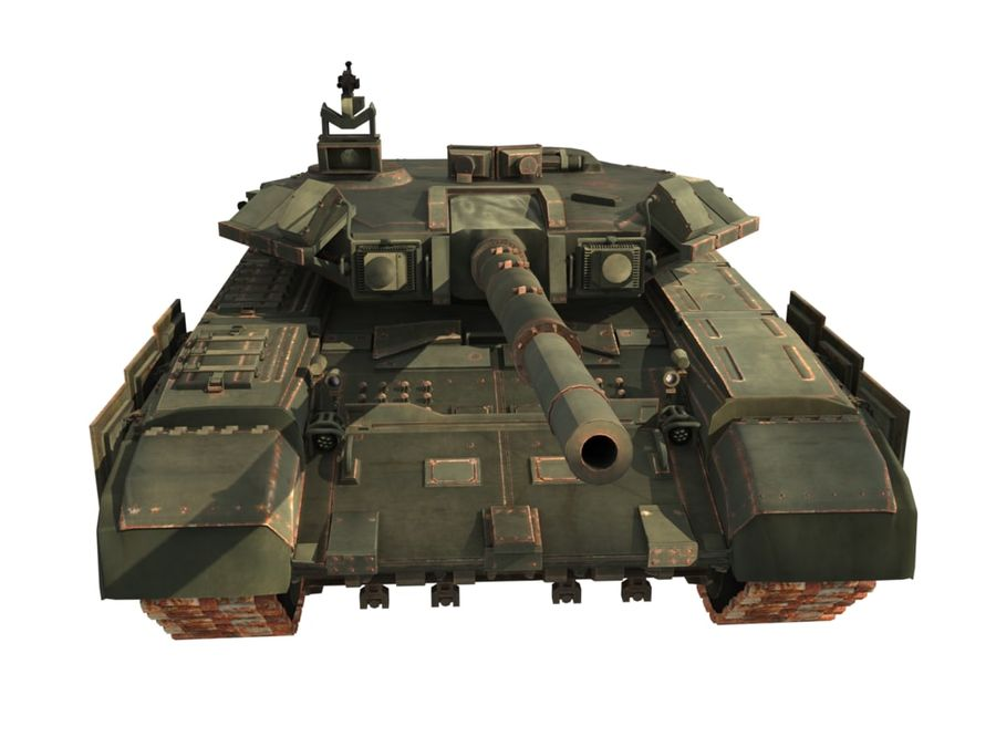 t 90 tank royalty-free 3d model - Preview no. 9
