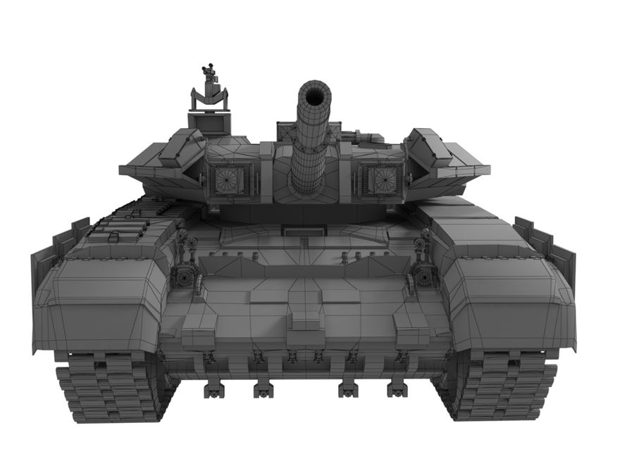 t 90 tank royalty-free 3d model - Preview no. 16