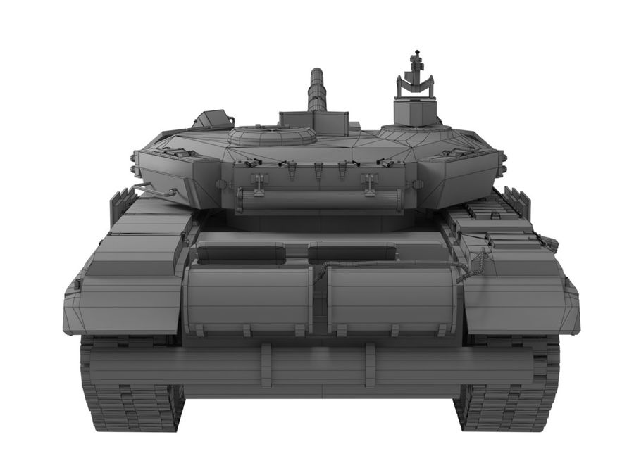 t 90 tank royalty-free 3d model - Preview no. 18