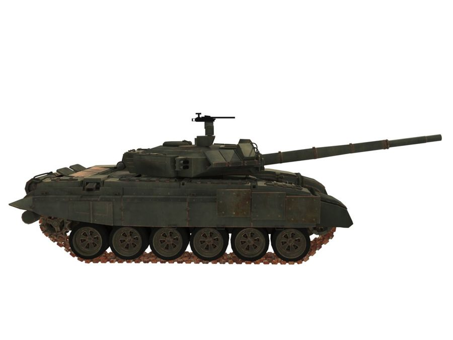 t 90 tank royalty-free 3d model - Preview no. 11
