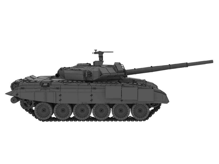 t 90 tank royalty-free 3d model - Preview no. 17