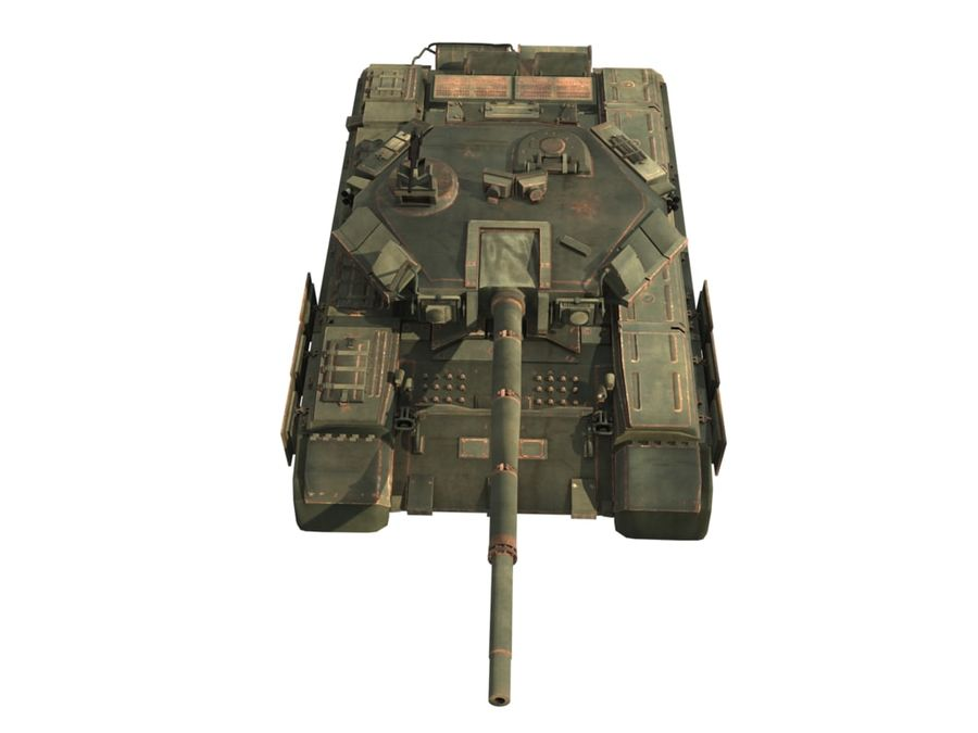 t 90 tank royalty-free 3d model - Preview no. 10