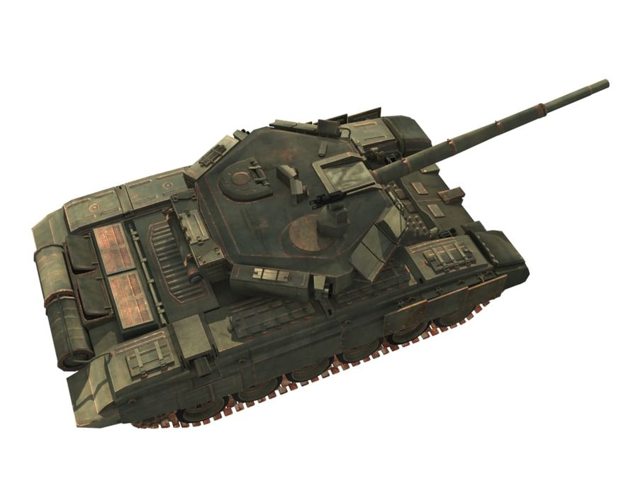 t 90 tank royalty-free 3d model - Preview no. 13