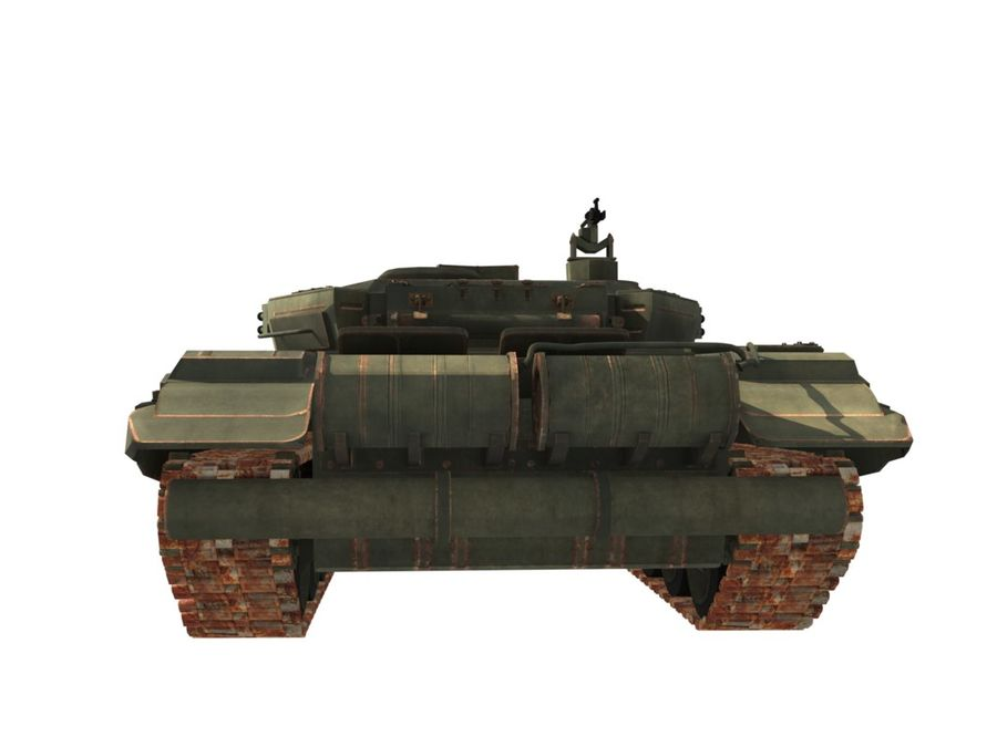 t 90 tank royalty-free 3d model - Preview no. 5