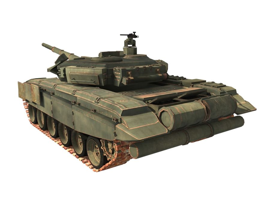 t 90 tank royalty-free 3d model - Preview no. 7