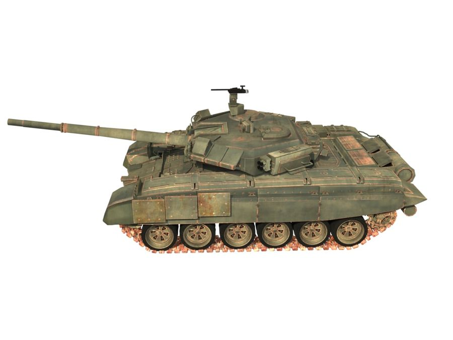 t 90 tank royalty-free 3d model - Preview no. 8
