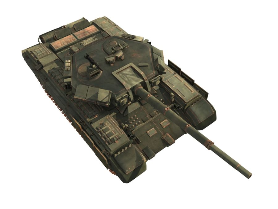 t 90 tank royalty-free 3d model - Preview no. 14