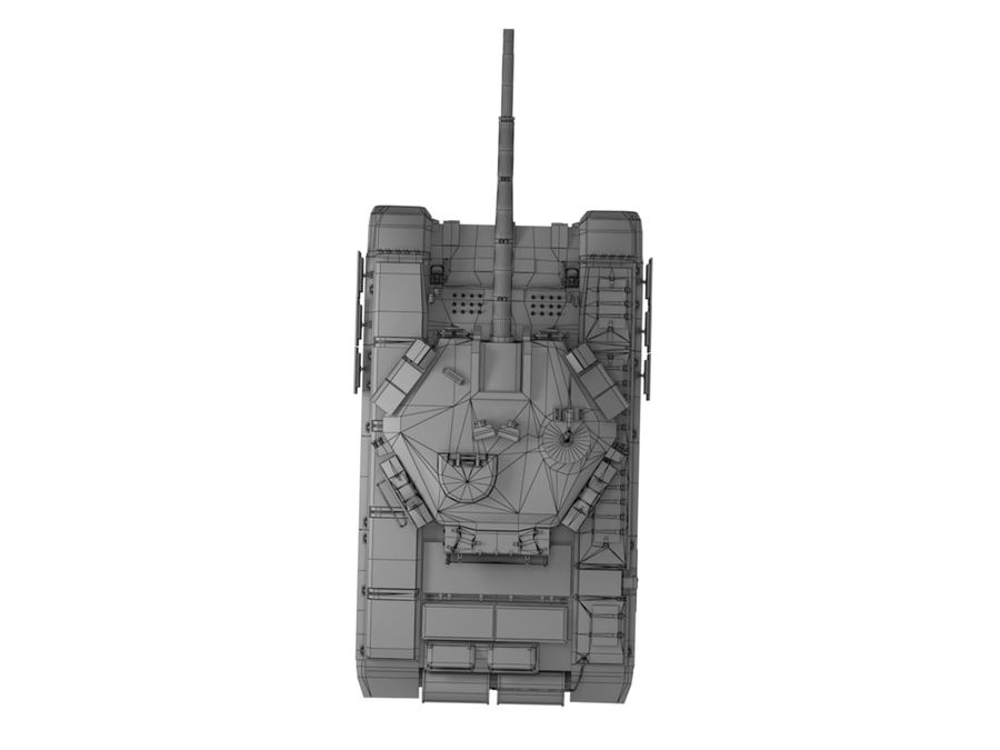 t 90 tank royalty-free 3d model - Preview no. 19