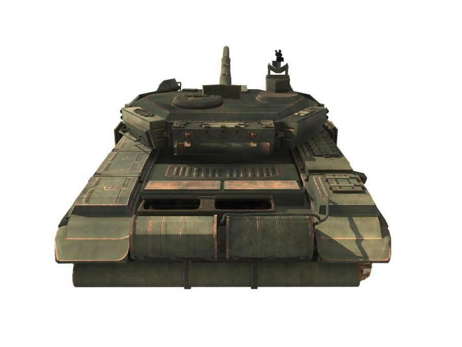 t 90 tank royalty-free 3d model - Preview no. 6
