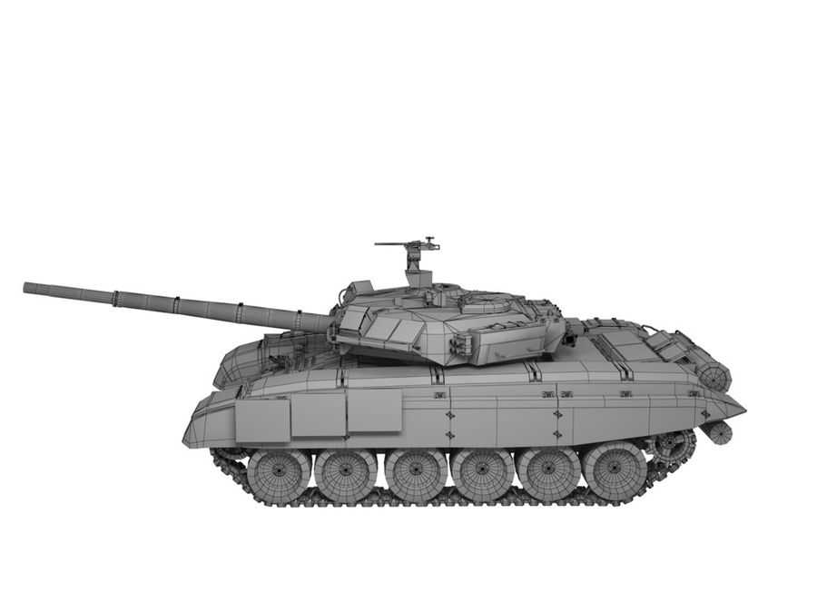 t 90 tank royalty-free 3d model - Preview no. 15