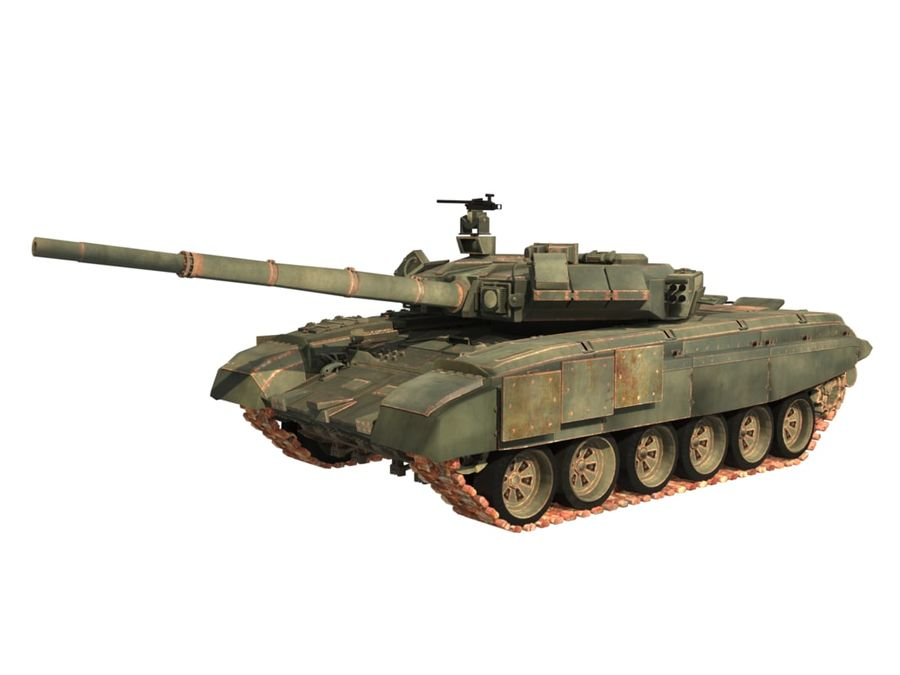 t 90 tank royalty-free 3d model - Preview no. 1