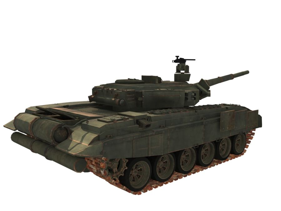 t 90 tank royalty-free 3d model - Preview no. 4