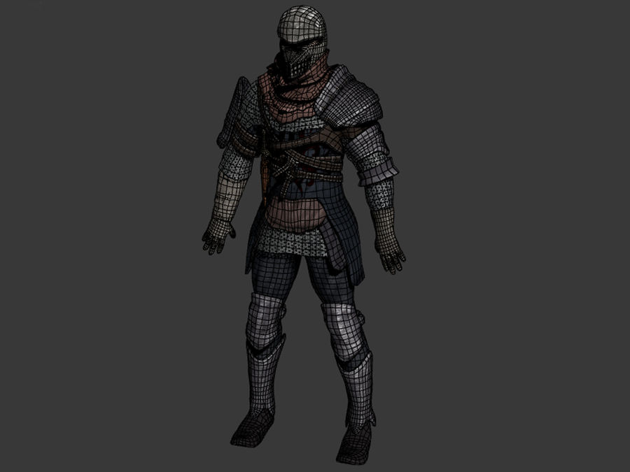 knight royalty-free 3d model - Preview no. 13
