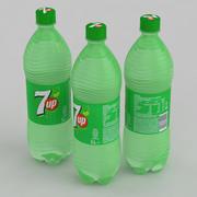 Beverage Bottle 7up 1L 3d model